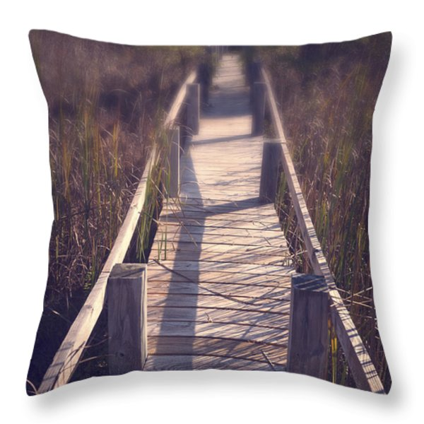 Walkway Through The Reeds Appalachian Trail Throw Pillow by Edward Fielding
