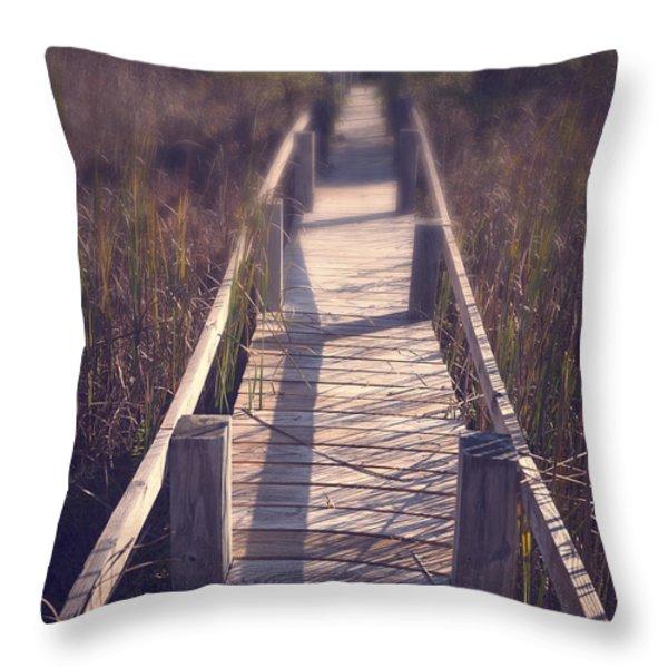 Walkway Through The Reeds Appalachian trail Throw Pillow by Edward Fielding