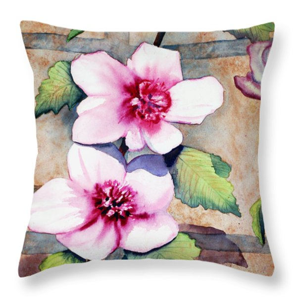 Wall Flowers Throw Pillow by Flamingo Graphix John Ellis