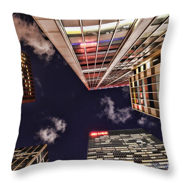 Wall Street Throw Pillow by Paul Ward