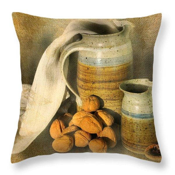Walnut Grove Throw Pillow by Diana Angstadt