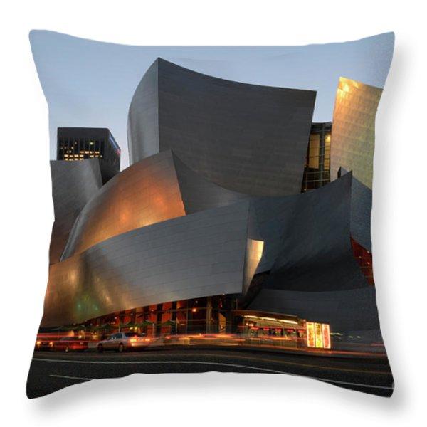 Walt Disney Concert Hall 21 Throw Pillow by Bob Christopher