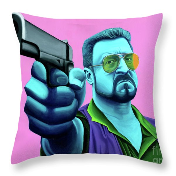 Walter  Throw Pillow by Ellen Patton