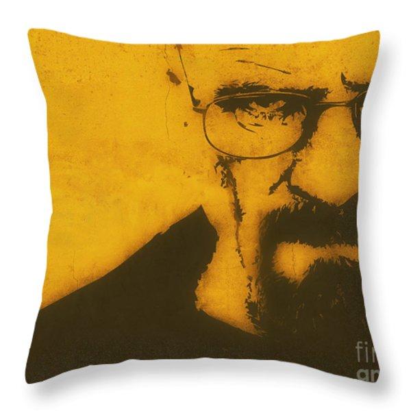 Walter White Breaking Bad Throw Pillow by Pixel Chimp