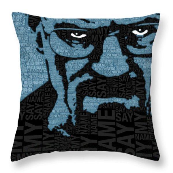 Walter White Heisenberg Breaking Bad Throw Pillow by Tony Rubino