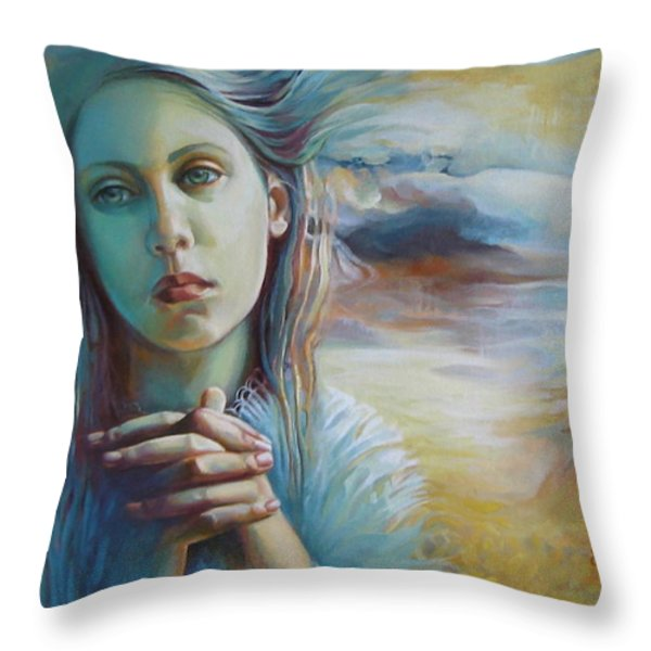 Wandering With Thoughts Throw Pillow by Elena Oleniuc