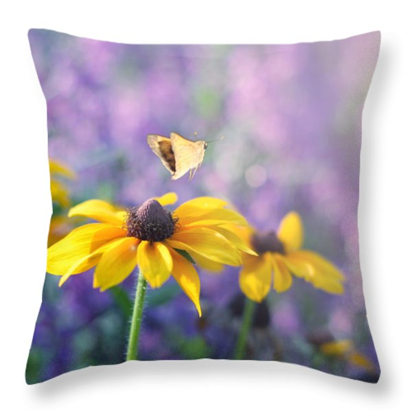 Wanderlust Throw Pillow by Amy Tyler