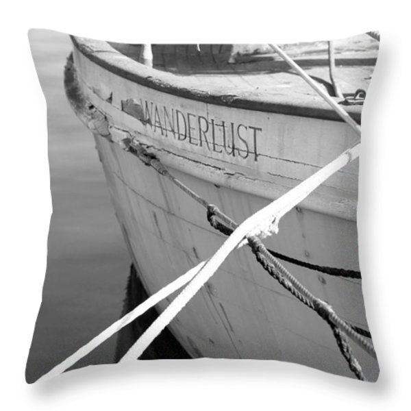 Wanderlust Black And White Throw Pillow by Amanda Barcon
