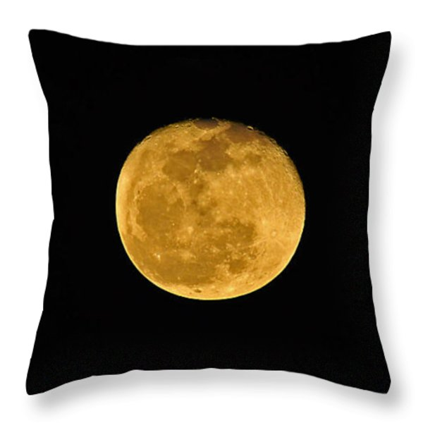 Waning Passover Moon Throw Pillow by Al Powell Photography USA