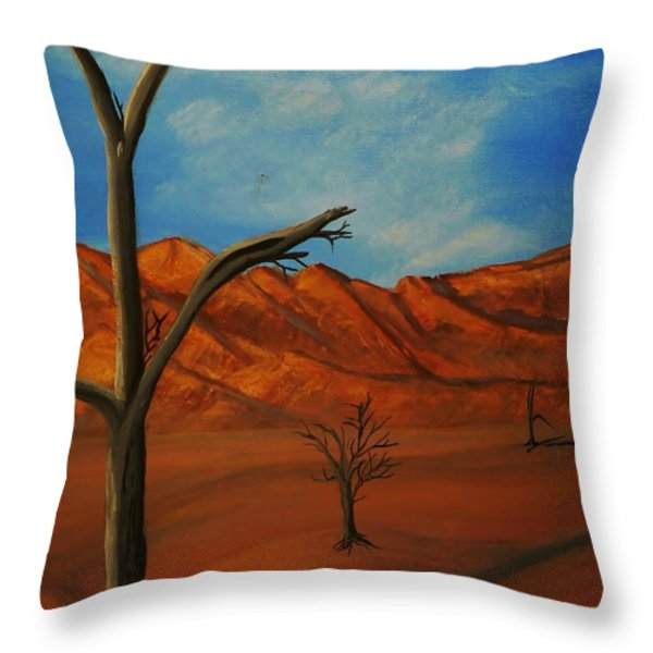 War Remains Throw Pillow by Barbara St Jean