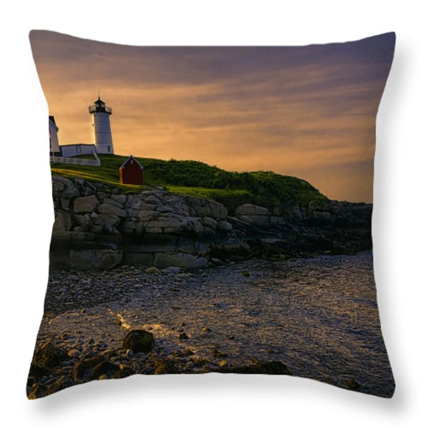 Warm Nubble Dawn Throw Pillow by Joan Carroll