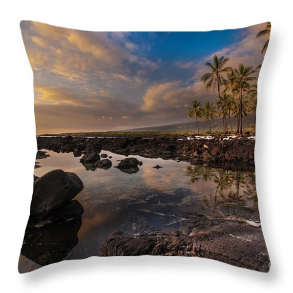 Warm Reflected Place of Refuge Skies Throw Pillow by Mike Reid