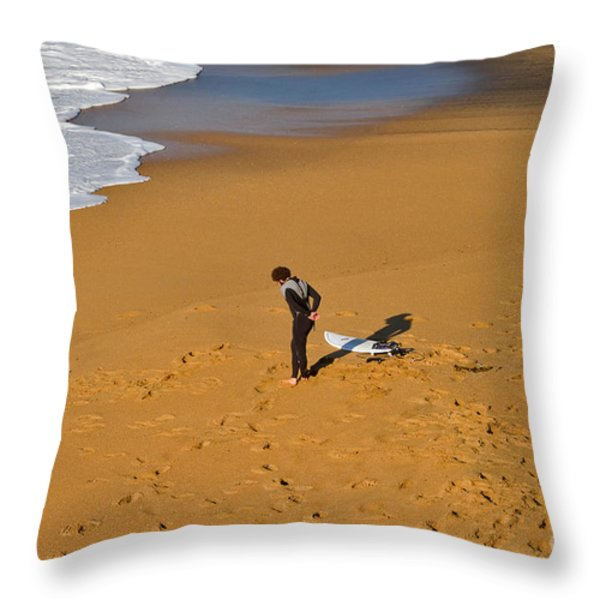 Warming Up Throw Pillow by Louise Heusinkveld