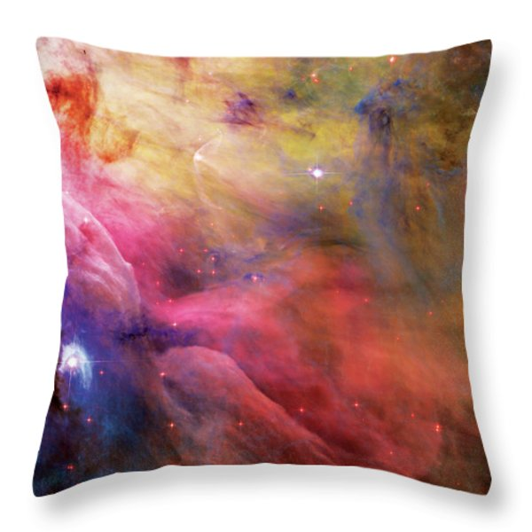 Warmth - Orion Nebula Throw Pillow by The  Vault - Jennifer Rondinelli Reilly