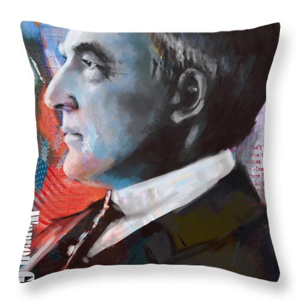 Warren G. Harding Throw Pillow by Corporate Art Task Force