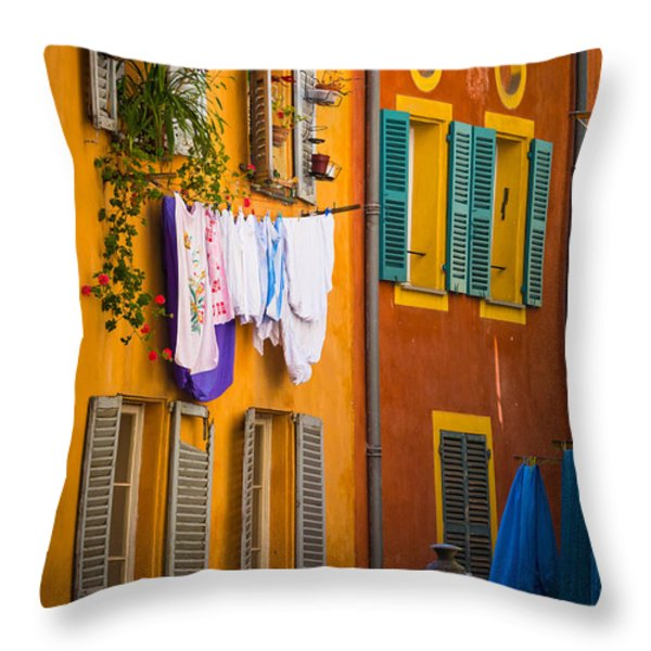 Wash Day Throw Pillow by Inge Johnsson