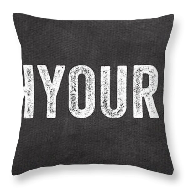 Wash Your Hands Throw Pillow by Linda Woods