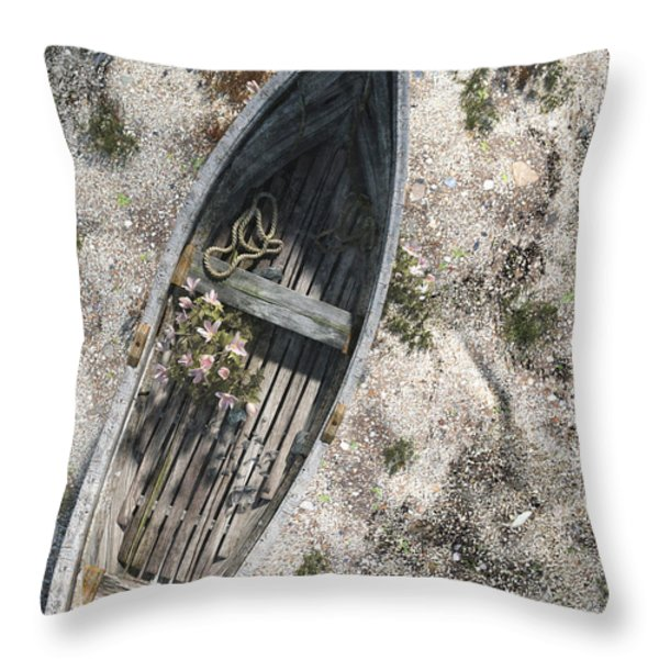 Washed Ashore Throw Pillow by Cynthia Decker