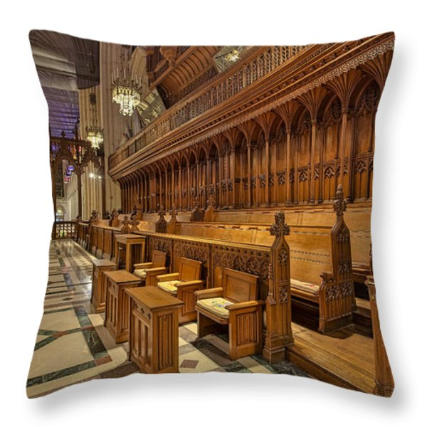 Washington National Cathedral Sanctuary Throw Pillow by Susan Candelario