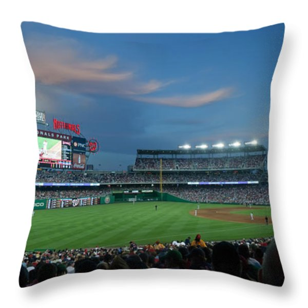 Washington Nationals in Our Nations Capitol Throw Pillow by Thomas Marchessault