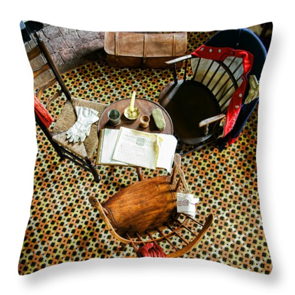 Washington Worked Here Throw Pillow by Olivier Le Queinec