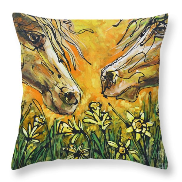Watch Love Bloom Throw Pillow by Jonelle T McCoy