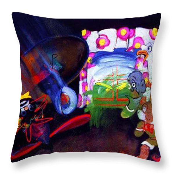 Watch With Mother Throw Pillow by Charles Stuart