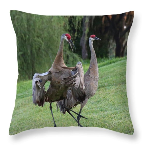 Watch Your Parents Throw Pillow by Carol Groenen