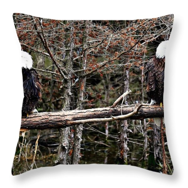 Watchful eyes Throw Pillow by Elizabeth Winter
