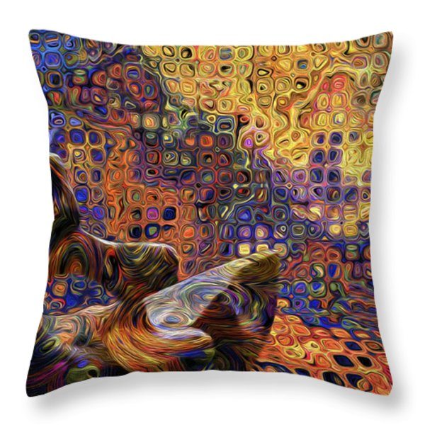 Watching And Waiting Throw Pillow by Jack Zulli