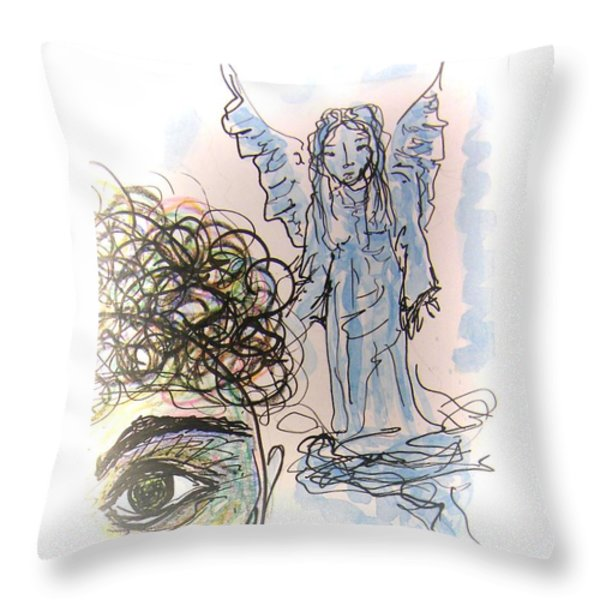 Watching Over You Throw Pillow by Mimulux patricia no