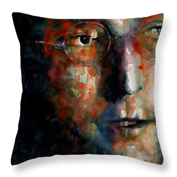 Watching the Wheels Throw Pillow by Paul Lovering