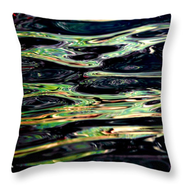 Water Abstract Throw Pillow by Bill Gallagher
