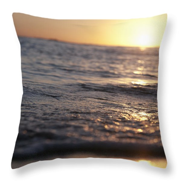 Water at Sunset Throw Pillow by Brandon Tabiolo