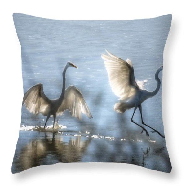 Water Ballet Throw Pillow by Saija  Lehtonen