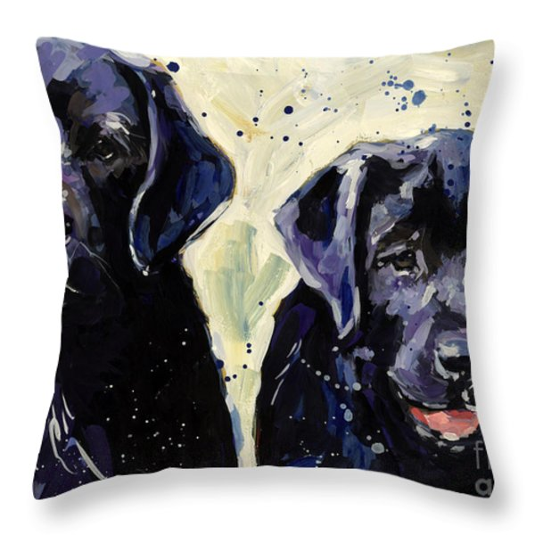 Water Boys Throw Pillow by Molly Poole