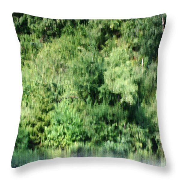 Water Forest Throw Pillow by Stanislav Killer