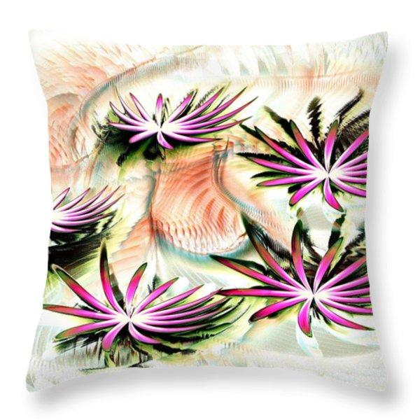 Water Lilies Throw Pillow by Anastasiya Malakhova