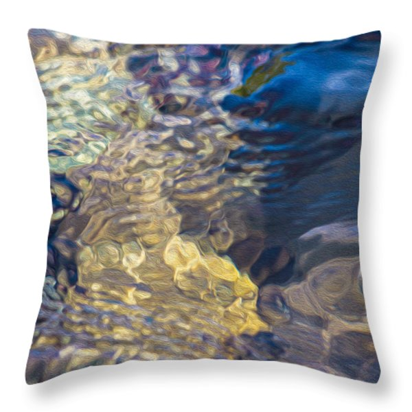 Water Monster Throw Pillow by Omaste Witkowski