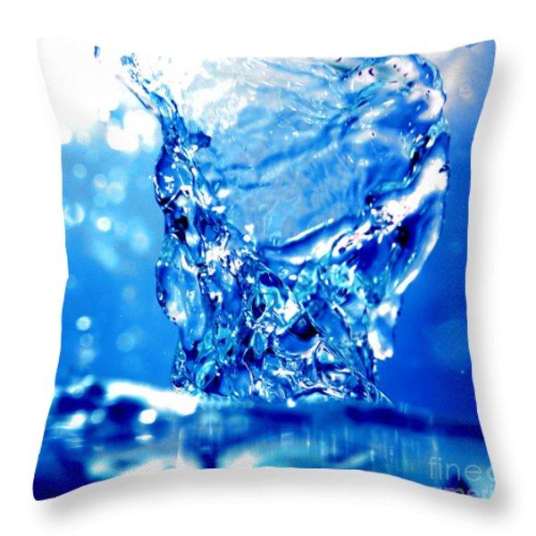 Water refreshing Throw Pillow by Michal Bednarek