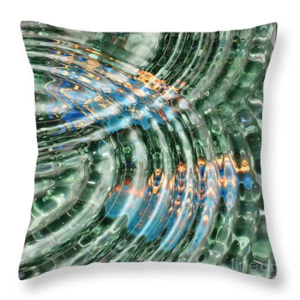 Water Ripples Throw Pillow by Cheryl Young