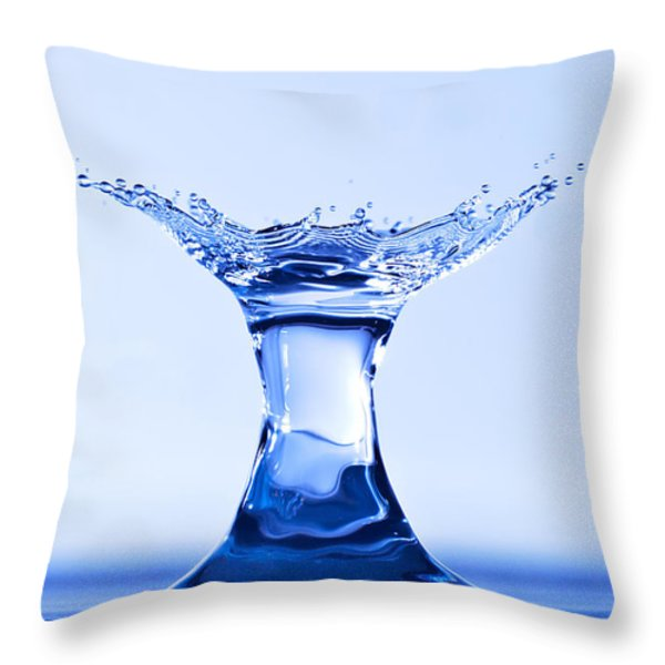 Water Splash Throw Pillow by Anthony Sacco