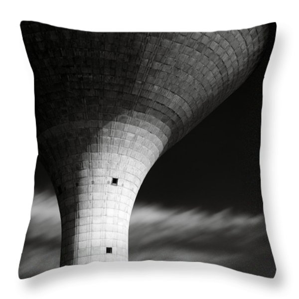 Water Tower Throw Pillow by Dave Bowman