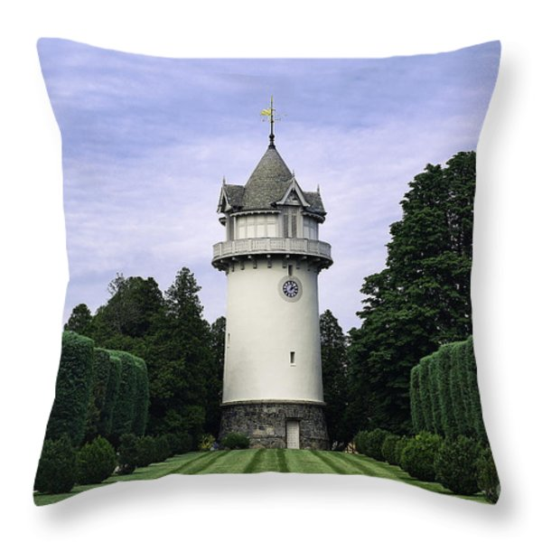 Water Tower Folly Throw Pillow by John Greim