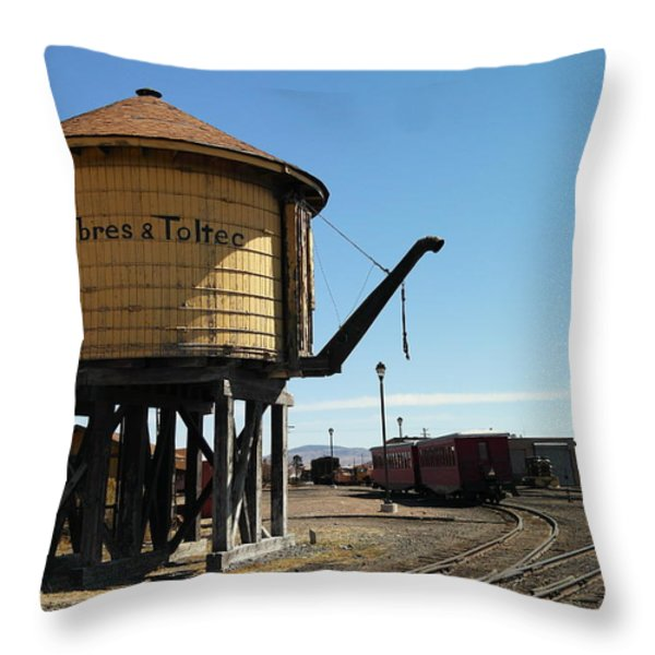 WATER tOWER Throw Pillow by Jeff  Swan