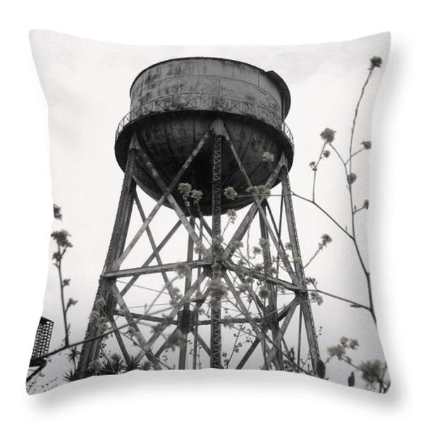 Water Tower Throw Pillow by Mike Grubb