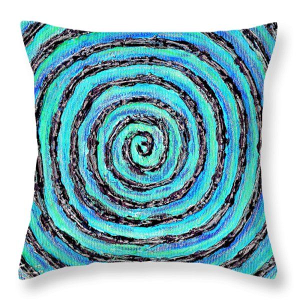 Water Vortex Throw Pillow by Carla Sa Fernandes