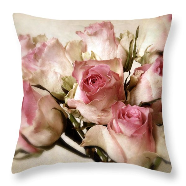 Watercolor Bouquet Throw Pillow by Jessica Jenney