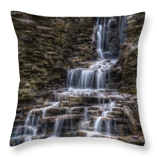 Waterfall 2 Throw Pillow by Scott Norris