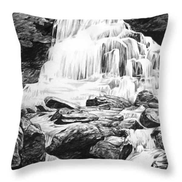 Waterfall Throw Pillow by Aaron Spong